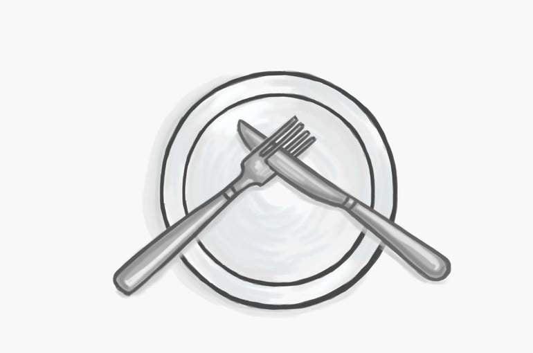 Jak ułożyć sztućce po skończonym posiłku?